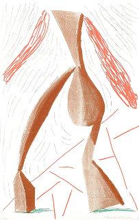 Walking 1986 HS Limited Edition Print - David Hockney