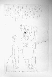 Marriage in Hawaii of David and Ann 1983 Limited Edition Print - David Hockney