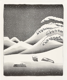 Snow Without Colour 1973 44x36 Limited Edition Print - David Hockney