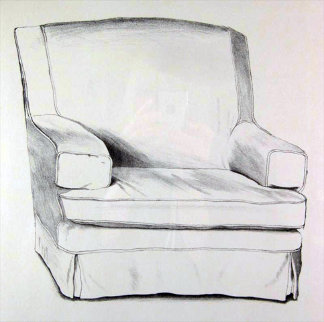 Slightly Damaged Chair 1973 40x32 Limited Edition Print - David Hockney