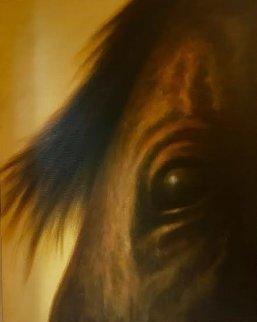 Je Vois Tout 2009 30x24 Original Painting - Wade Hoefer