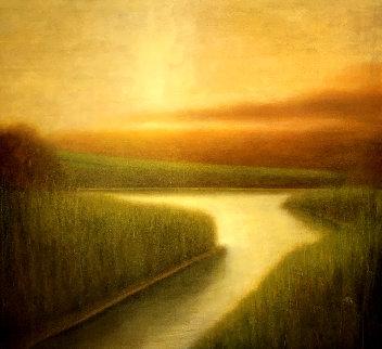 Colonia VII 2005 46x54 Original Painting - Wade Hoefer