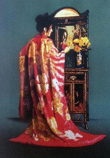 Red Kimono 1990 Limited Edition Print - Douglas Hofmann