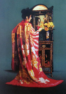 Red Kimono 1990 Limited Edition Print by Douglas Hofmann