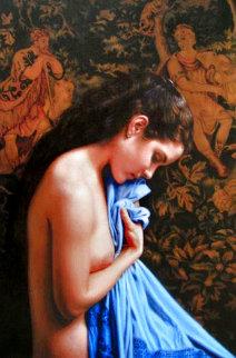 Blue Shawl Limited Edition Print - Douglas Hofmann