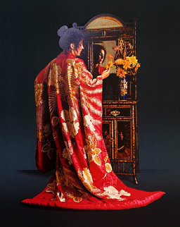 Red Kimono 1983 Limited Edition Print by Douglas Hofmann