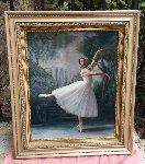 Dancer in White 1993 Original Painting - Douglas Hofmann