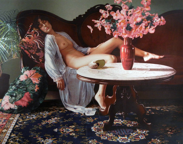 Jessica with Remarque 1983 Limited Edition Print by Douglas Hofmann
