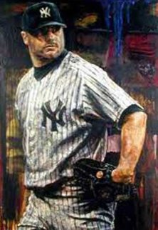 Roger Clemens AP 2003 Embellished  Limited Edition Print by Stephen Holland