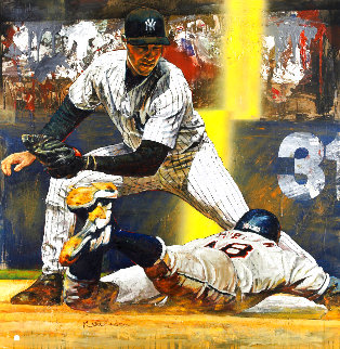 Derek Jeter Making the Tag PP 2003 Limited Edition Print - Stephen Holland