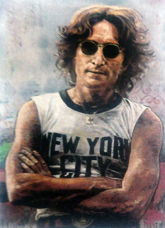 John Lennon New York 2011 Embellished  Limited Edition Print by Stephen Holland