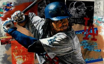 Manny Ramirez 2009 Embellished Limited Edition Print by Stephen Holland