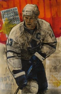 Mats Sundin 48x28 Super Huge Original Painting - Stephen Holland