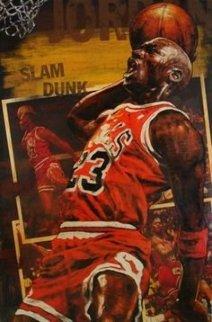 Michael Jordan Gametime AP 1998 Embellished Limited Edition Print by Stephen Holland