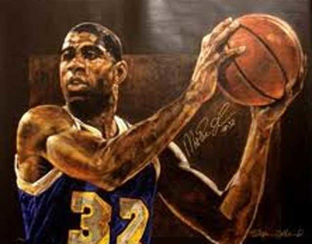 Magic Johnson Edition Number 32 of 32 Magics' Number HS Magic Limited Edition Print by Stephen Holland