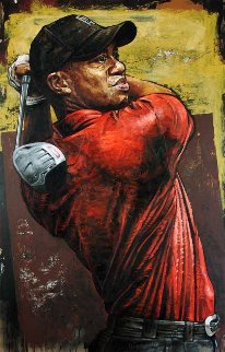 Tiger Woods Driver 2004 Limited Edition Print by Stephen Holland