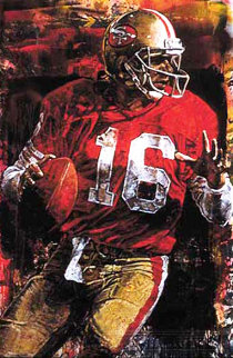 Joe Montana 2000 Embellished Limited Edition Print - Stephen Holland