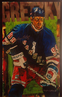 Wayne Gretzky New York Rangers 2000 Embellished HS by Gretsky Limited Edition Print by Stephen Holland