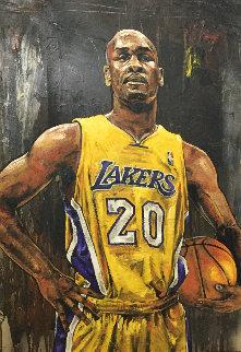 Gary Peyton 46x28  Huge Original Painting - Stephen Holland