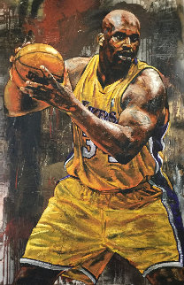 Shaq 46x29 Original Painting by Stephen Holland