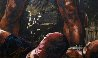 Muhammad Ali Over Sonny Liston 56x52 Original Painting by Stephen Holland - 2