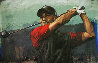 Tiger Woods  Tee Off AP 2006 HS Tiger Embellished  Limited Edition Print by Stephen Holland - 0