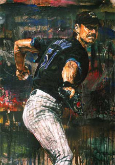 Randy Johnson 2002 Embellished  Limited Edition Print by Stephen Holland