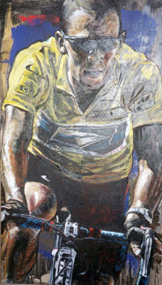 Tour De France Lance Armstrong 2006 39x24 Original Painting by Stephen Holland