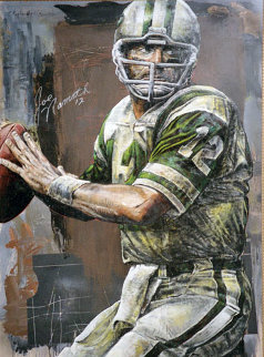 Joe Namath 2006 55x40 HS by Joe Super Huge Original Painting - Stephen Holland