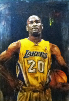 Gary Payton 46x28 Super Huge Original Painting - Stephen Holland