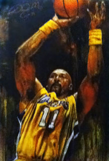Karl Malone 46x29 Original Painting - Stephen Holland