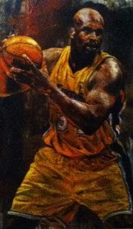 Shaq 46x28 Original Painting by Stephen Holland