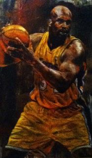 Shaq 46x28 Original Painting - Stephen Holland
