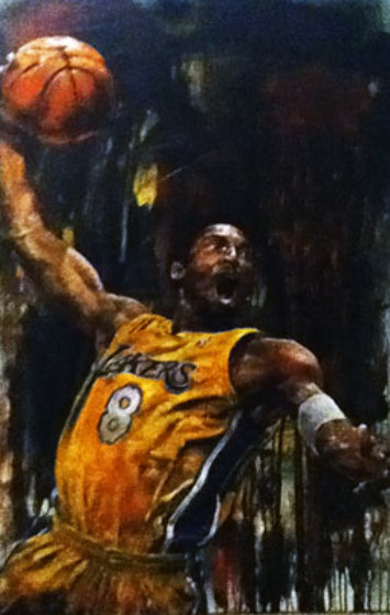 Kobe Bryant 46x29 Original Painting by Stephen Holland