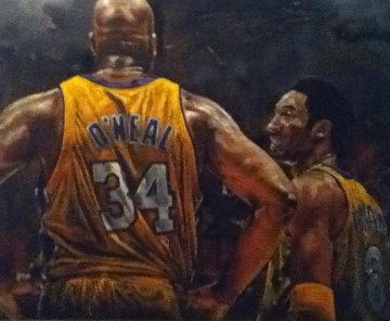 Shaq and Kobe 48x60 Original Painting by Stephen Holland