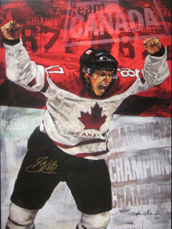 Sidney Crosby Embellished 2005 HS by Player Limited Edition Print by Stephen Holland