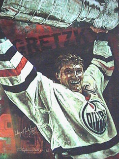 Gretzky Oilers 2000 Embellished HS Gretsky Limited Edition Print by Stephen Holland