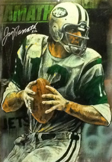 Joe Namath Embellished Limited Edition Print - Stephen Holland