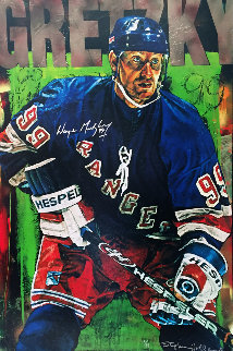 Wayne Gretzky New York Rangers 2000 Embellished  Limited Edition Print - Stephen Holland