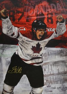 Sidney Crosby 2010 Limited Edition Print by Stephen Holland