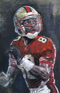 Jerry Rice 30x42 Original Painting by Stephen Holland