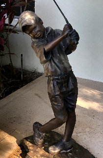 Love of the Game Life Size Bronze Sculpture 2010 50 in Sculpture by Holly Young