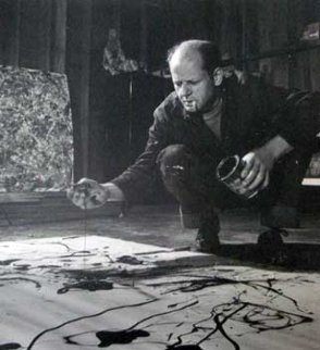 Jackson Pollock, Painting in His Studio, Springs, New York, 1949 16x20 Limited Edition Print - Martha Holmes