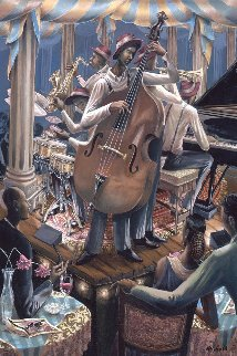 Swingin 1998 36x24 Original Painting - John Holyfield