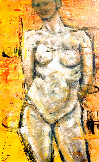 Nude 2019 48x30 Super Huge Original Painting - Karol Honeycutt