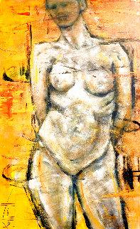 Nude 2019 48x30 Super Huge Original Painting - Karol Honeycutt