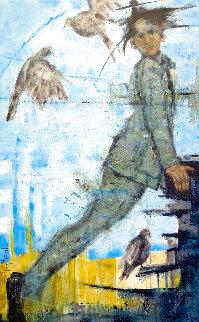 Birder 2020 48x30 Huge Original Painting - Karol Honeycutt