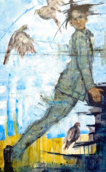 <br /> Birder 2020 48x30 Original Painting by Karol Honeycutt