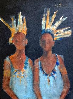 Twins 2019 40x30 Original Painting - Karol Honeycutt
