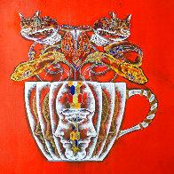 Medusa in the Tea Cup#2 2020 20x20 Original Painting by Lu Hong - 0